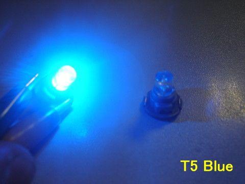 LED palubní deska Neo Wedge T5 modrá Noname