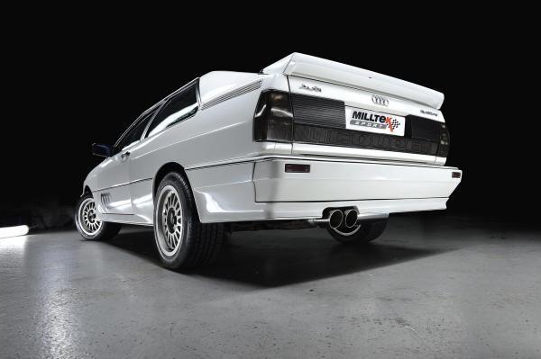 Milltek Sport Downpipe back výfuk Milltek Audi Coupe UR Quattro 10V Turbo (81-89) - koncovka Black 90mm GT90