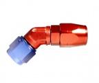 """Fitinka koleno 45° D-06 (AN6) 9/16""""x18-UNF - cutter-system - šroubovací (zesílená s ostrým úhlem)"""