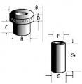 Powerflex univérzální silentblok 100 Series Top-Hat Bush - 1.500 x 1.700inch