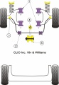 Silentbloky Powerflex Renault Clio včetně 16V Front Anti Roll Bar Outer Mount (3)