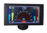 LCD panel 6in1 Racetech - otáčky motoru, napětí, teplota vody a oleje, tlak oleje, hodiny