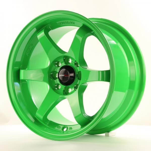 Alu kolo Japan Racing JR3 15x8 ET25 4x100/108 Green