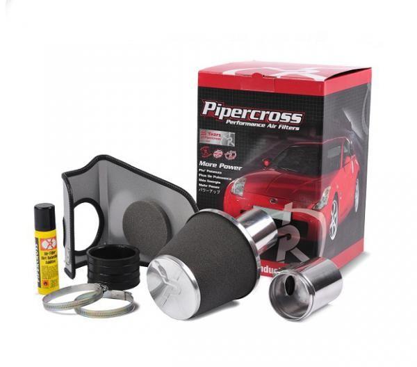Sportovní kit sání Pipercross na Peugeot 206 1.4 8V air box mezi baterkou a motorem (12/04-)