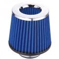 Sportovní filtr univerzální Simota 76mm chrom / modrý