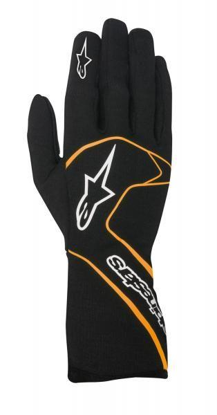 Závodní rukavice Alpinestars Tech 1 Race - černé/ozanžové