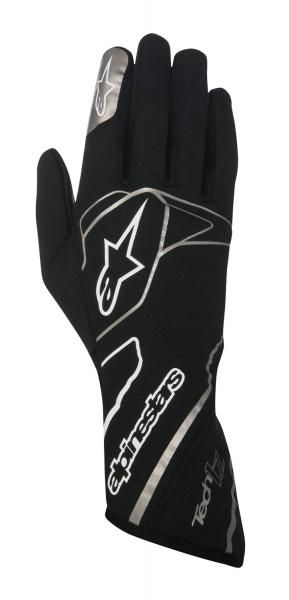 Závodní rukavice Alpinestars Tech 1Z - černé/bílé