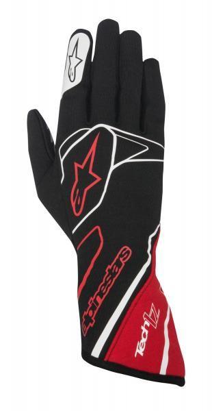 Závodní rukavice Alpinestars Tech 1Z - černé/červené