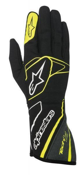 Závodní rukavice Alpinestars Tech 1Z - černé/žluté