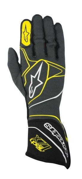 Závodní rukavice Alpinestars Tech 1ZX - antracit/žluté