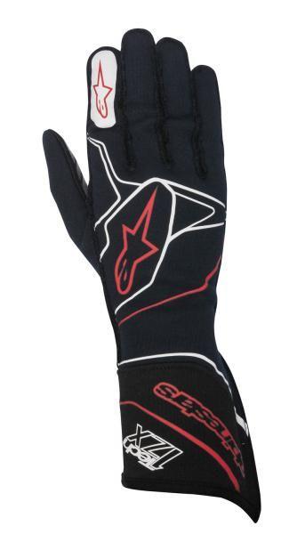Závodní rukavice Alpinestars Tech 1ZX - tmavě modré/bílé