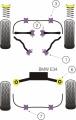 Silentbloky Powerflex BMW E34 (88-96) Front Lower Tie Bar To Chassis Bush Steel (1)