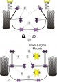 Silentbloky Powerflex Toyota MR2 3S-FE/GE SW20 Front Inner Track Control Arm Bush (2)