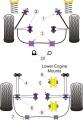 Silentbloky Powerflex Toyota MR2 3S-FE/GE SW20 Rear Lower Engine Mount Front 79mm (8)