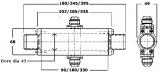 Tepelný výměník Laminova C43 - 245mm / D-08 / 35mm Mocal