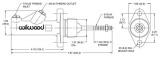 """Hlavní brzdový válec Wilwood Compact - velikost 0.625"""" - 16mm"""