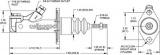 """Hlavní brzdový válec Wilwood GS Compact - velikost 0.500"""" - 12,7mm"""