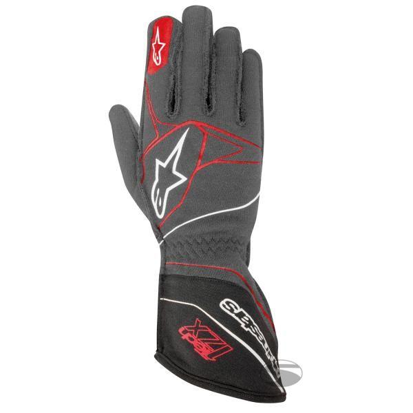 Závodní rukavice Alpinestars Tech 1ZX - antracit/červené