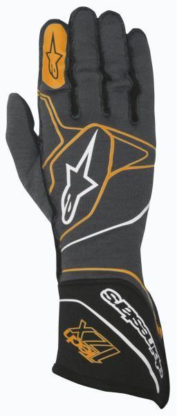 Závodní rukavice Alpinestars Tech 1ZX - antracit/oranžové