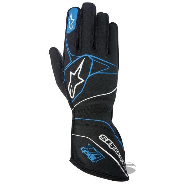 Závodní rukavice Alpinestars Tech 1ZX - modré/černé