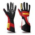 Závodní rukavice Momo X-Treme Pro - červené/černé/bílé