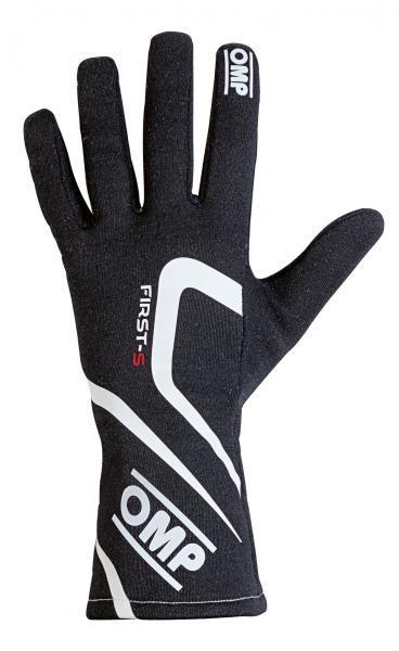 Závodní rukavice OMP First-S - černé