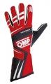 Závodní rukavice OMP Tecnica Evo - červené/černé