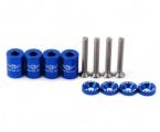 Univerzální podložky na přední kapotu - délka 25mm, závit M6x1.0 - modré