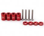 Univerzální podložky na přední kapotu - délka 25mm, závit M6x1.0 - červené