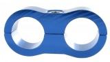 Separátor na vedení - průměr 2x 19,1mm - modrý