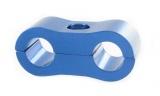 Separátor na vedení - průměr 2x 6,4mm - modrý