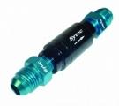 """Zpětný ventil celo hliníkový Sytec - D-06 9/16""""x18-UNF - černý"""