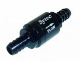 Zpětný ventil celo hliníkový Sytec - hadice 8mm - černý