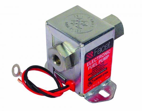 Univerzální nízkotlaká palivová pumpa Facet Solid State 57l/h - 40171 s vypinacím ventilem