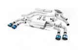 Catback výfuk Milltek Alfa Romeo Giulia Quadrifoglio 2.9 V6 Bi-Turbo (15-) - koncovky titanové modré