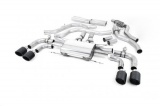 Catback výfuk Milltek Alfa Romeo Giulia Quadrifoglio 2.9 V6 Bi-Turbo (15-) - koncovky karbonové