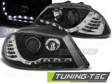Přední světla černá LED s Devil Eyes Seat Ibiza / Cordoba