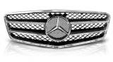 Sportovní maska Mercedes C Class W204, černá chrom