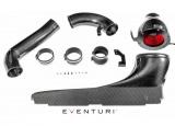 Karbonové sání Eventuri pro Audi RS3 8V facelift (17-) - černý karbon s karbonovým vedením k turbu