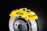 Přední brzdový kit D2 Racing pro Saab 9-5 (02-10), 8-pístkové brzdiče, plovoucí kotouče 400x36mm