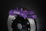 Přední brzdový kit D2 Racing pro Saab 9-5 (98-02), 6-pístkové brzdiče, plovoucí kotouče 330x32mm