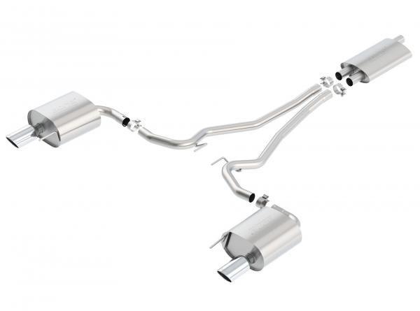 Borla Exhaust Catback výfuk Borla pro Ford Mustang 2.3T EcoBoost automat/manuál (15-17) - homologace