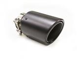 Koncovka výfuku Turbo Parts karbonová - kulatá zkosená průměr 102mm - montážní průměr 63,5mm (homologace)