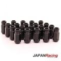 Kolové matice (štefty) Japan Racing JN1 závit M12 x 1.5 - černé (ocelové)