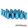 Kolové matice (štefty) Japan Racing JN1 závit M12 x 1.25 - modré (ocelové)