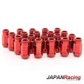 Kolové matice (štefty) Japan Racing JN1 závit M12 x 1.5 - červené (ocelové)