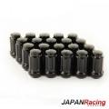 Kolové matice (štefty) Japan Racing JN2 závit M12 x 1.25 - černé (ocelové)