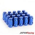 Kolové matice (štefty) Japan Racing JN2 závit M12 x 1.5 - modré (ocelové)