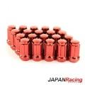 Kolové matice (štefty) Japan Racing JN2 závit M12 x 1.5 - červené (ocelové)