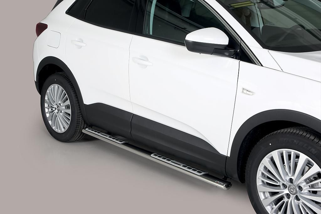 Nerez boční designové nášlapy Opel Grandland X misutonida